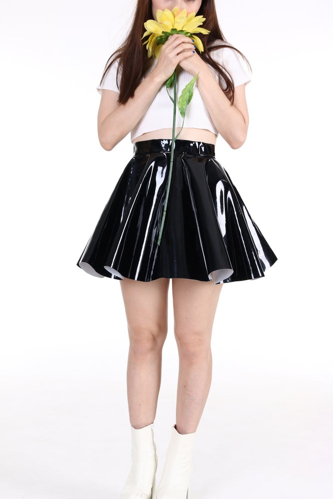 Image of Made To Order - Black PVC Circle Skirt