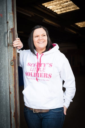 Image of Adult Premium Hoody - White and Pink