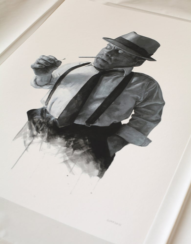 Image of Warwick Davis as Philip Marlowe // Limited Edition print