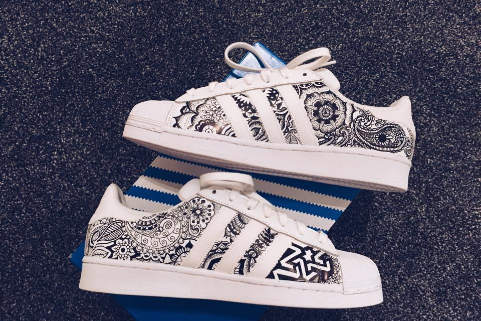Fainted — Custom Adidas Superstar Paisley