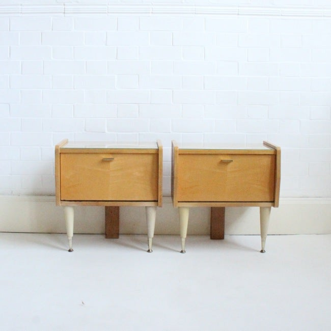 Image of Vintage Bedside Tables (pair)
