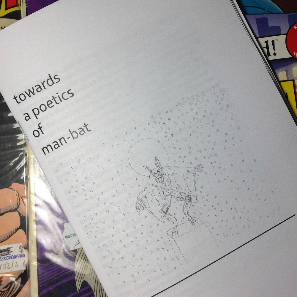 Image of Towards a Poetics of Man-Bat Zine