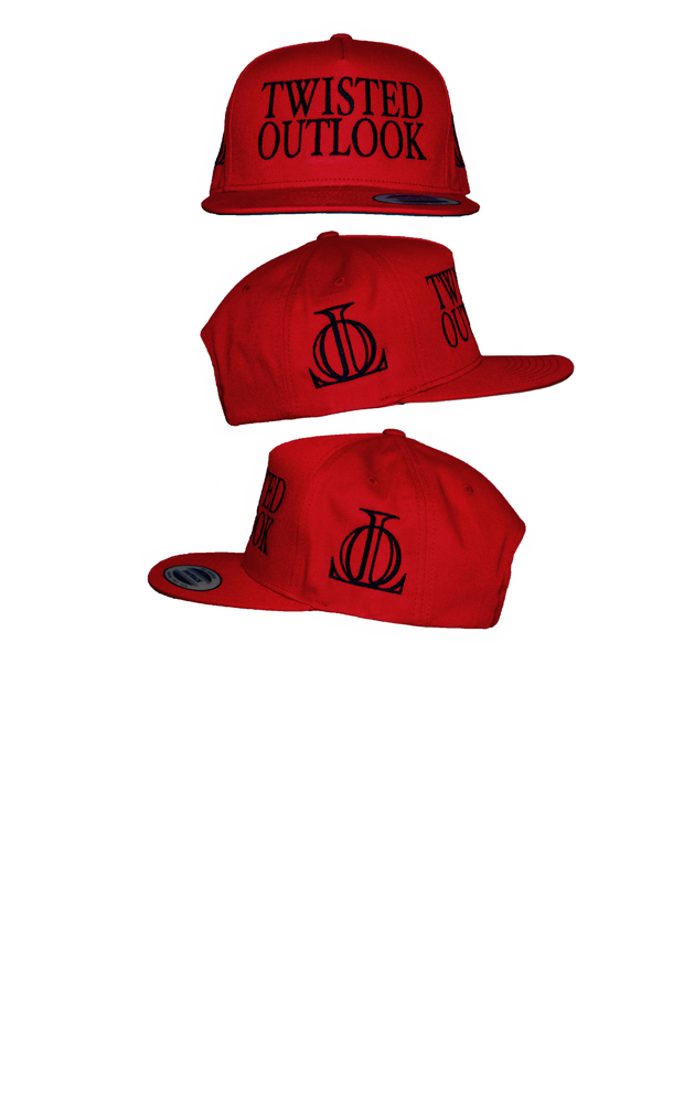 Image of TWISTED OUTLOOK RED SNAP BACK