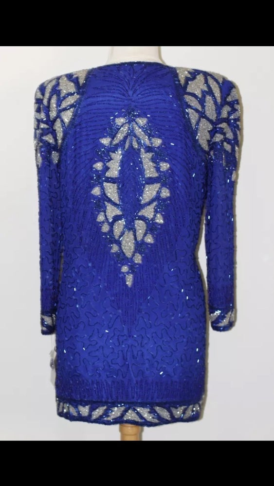 Image of Silk Beaded Dress