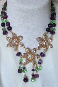 Image of Amethyst, Czech and Swarovski crystal set