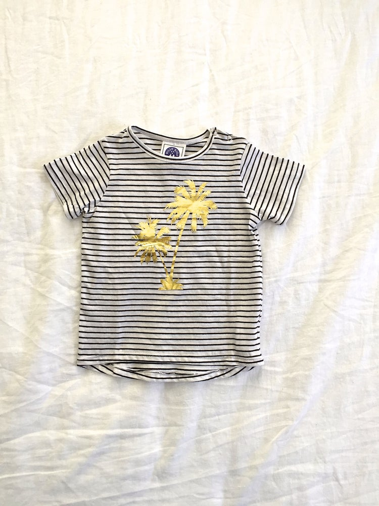 Image of GOLDEN PALM STRIPE TEE