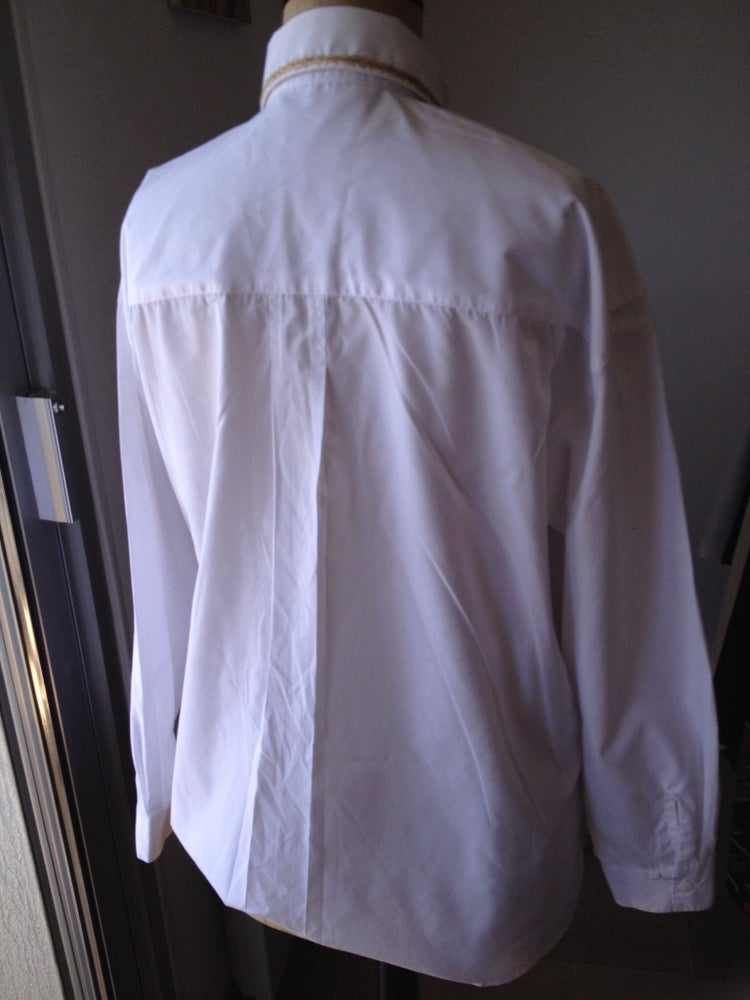 Image of CHEMISE BLANCHE À PLASTRON BRODE