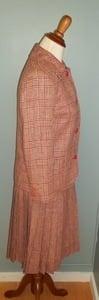 Image of Red Plaid Vintage Celine Skirt Suit