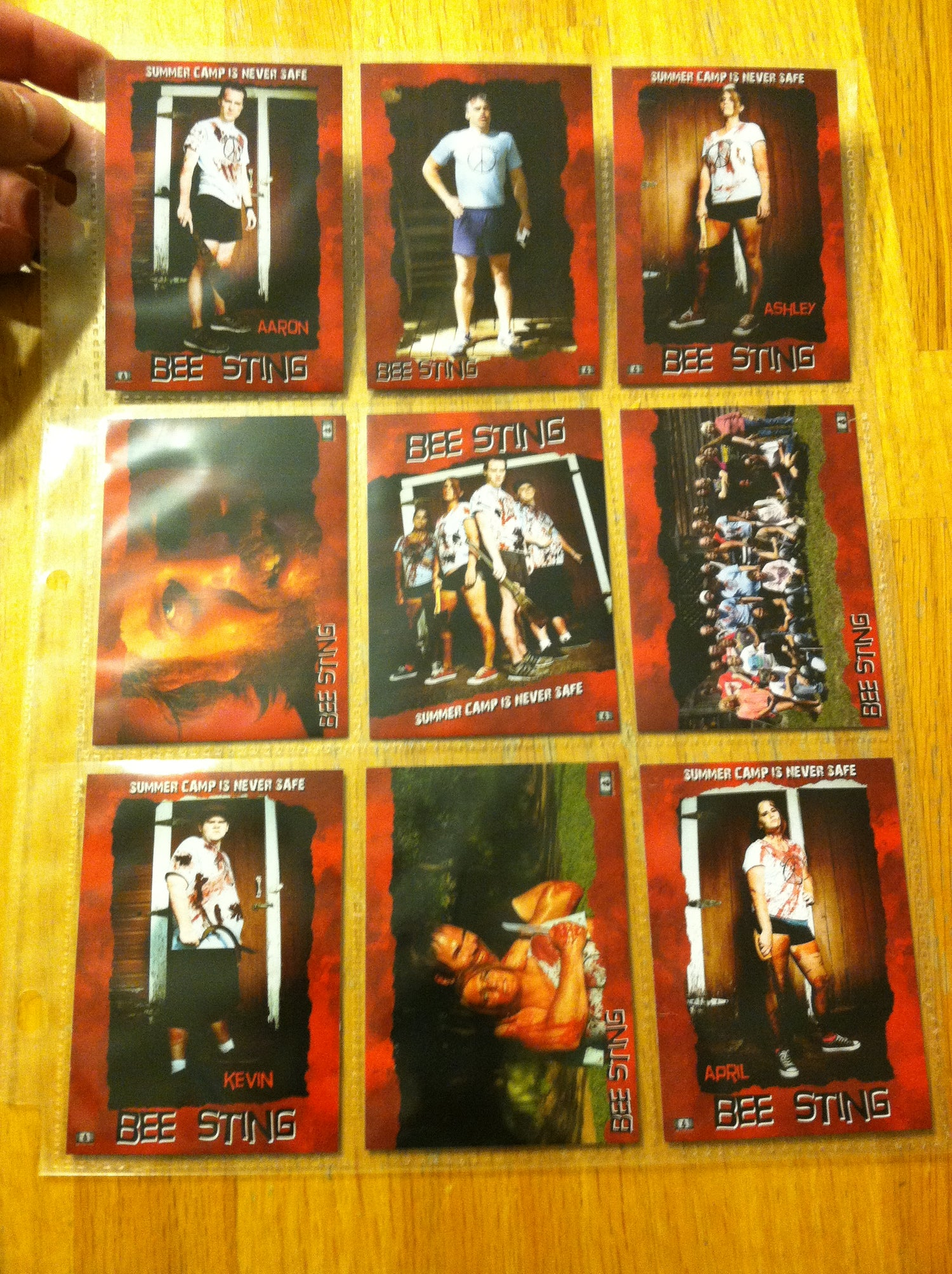 Image of Bee Sting Trading Card Set