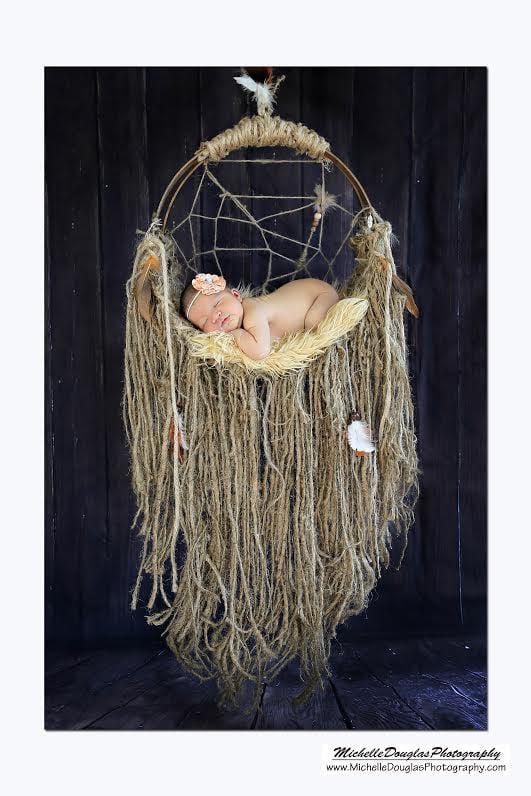 Woodsy Wonders Rustic Dream Catcher Hammock Newborn Baby
