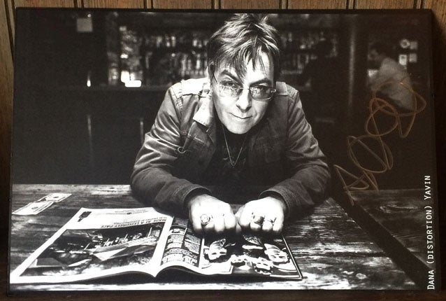 Image of Andy Rourke Autographed 6x9 Print by Photographer Dana Distortion