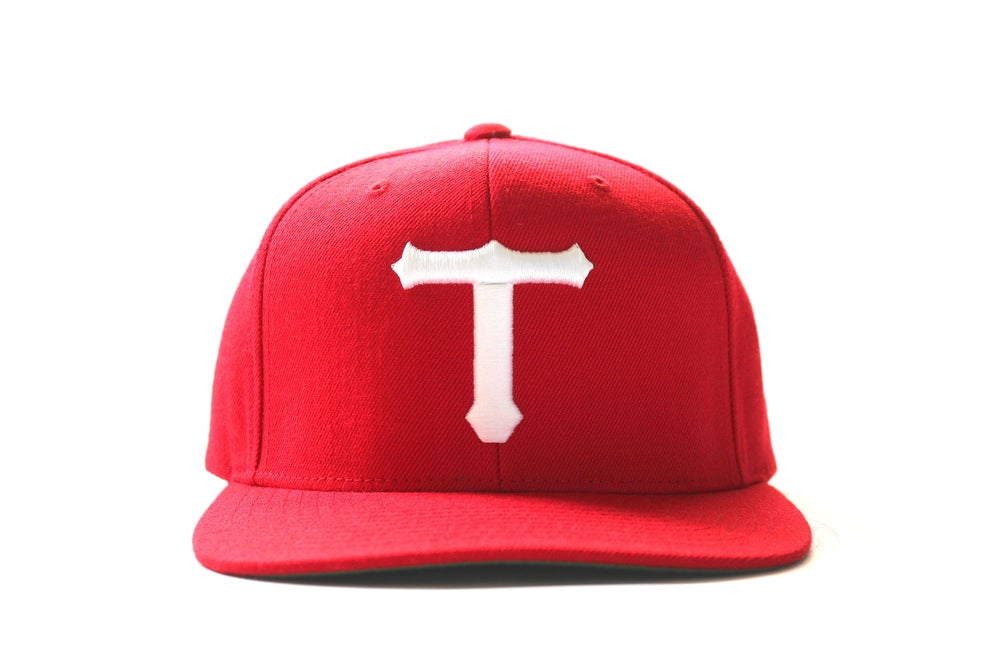 Image of RED BIG T HAT