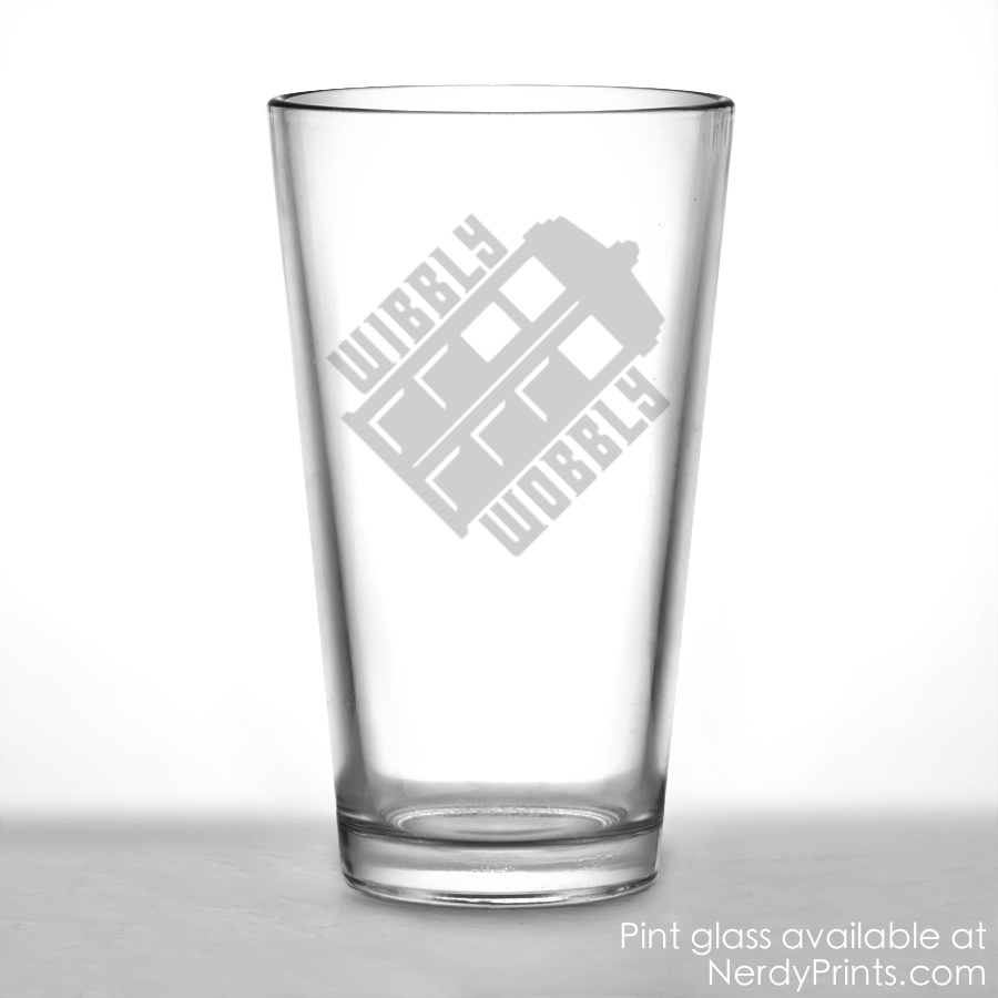 Image of Doctor Who Tardis Pint Glass - Wibbly Wobbly
