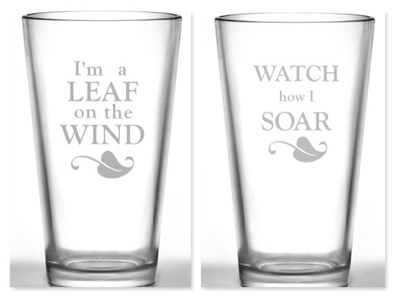 Image of Serenity/Firefly Pint Glass Set - I'm a Leaf on the Wind, Watch How I Soar