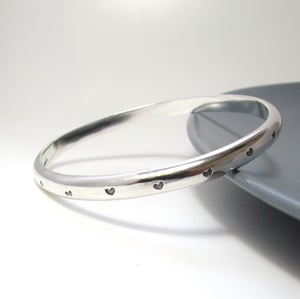 Image of Heavy Sterling Silver Heart Bangle