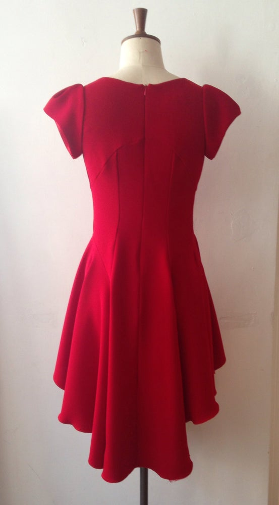 Image of Cap sleeve swirl dress
