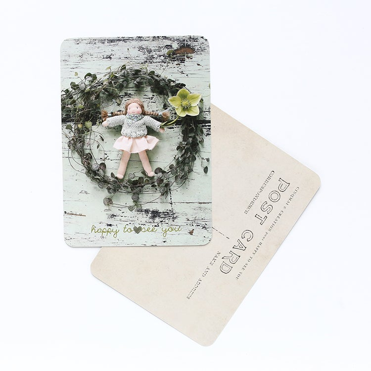 "Image of Carte Postale exclusive ""HAPPY TO SEE YOU/MINT SPRING"""