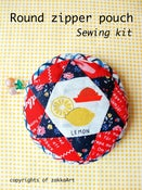 Image of Round Zipper Pouch Sewing Kit - Lighthearted