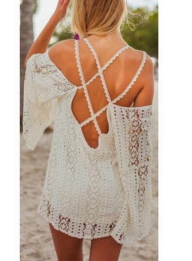 Image of CUTE CROSS LACE DRESS