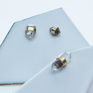 Image of Better Late Than Never Single Diamond Gold Stud Earring