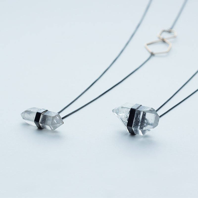 Image of Better Late Than Never Single Diamond Drop Necklace