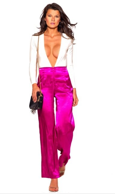 Image of V-Neck Wideleg Jumpsuit
