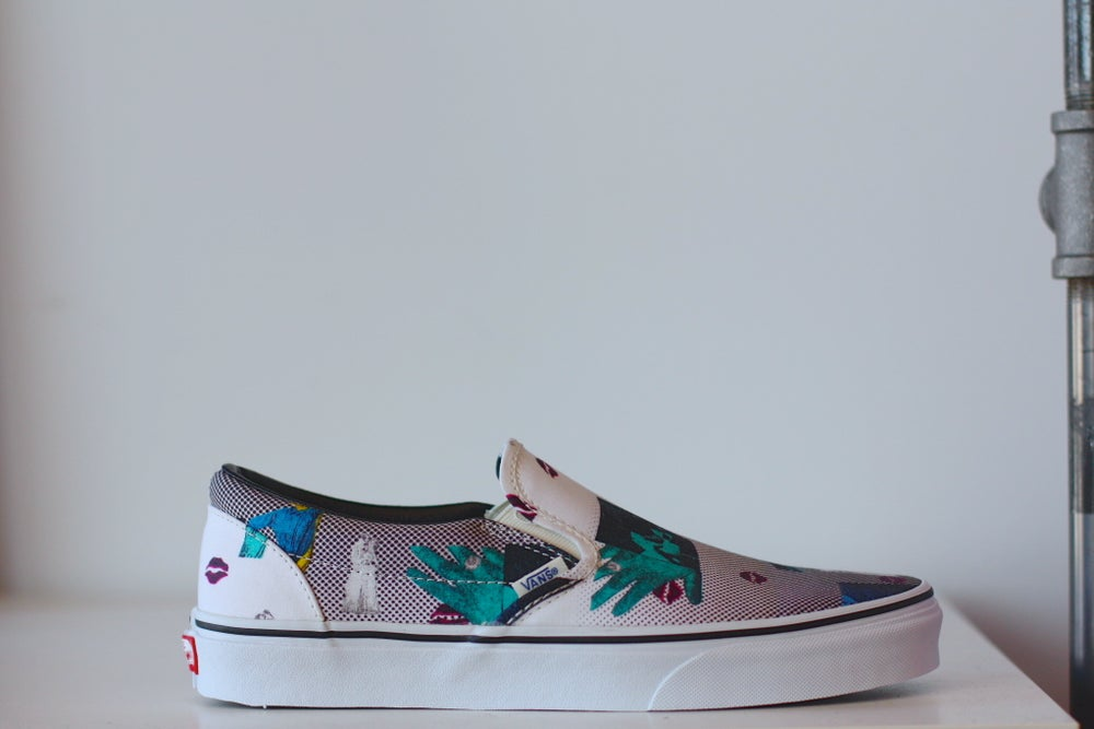 "Image of Vans Classic Slip-On Doren ""Lips"""