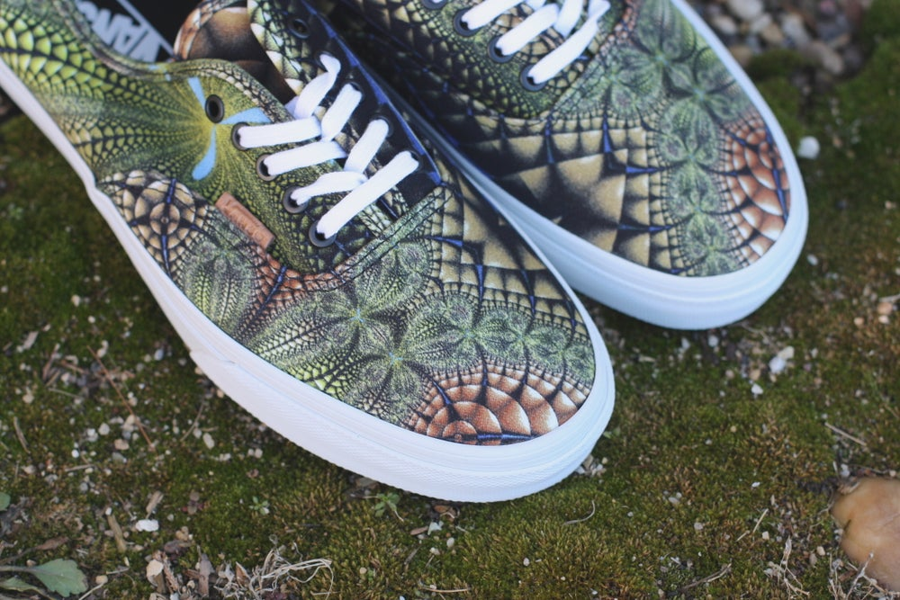 Image of Vans Authentic CA Mirror Image Green