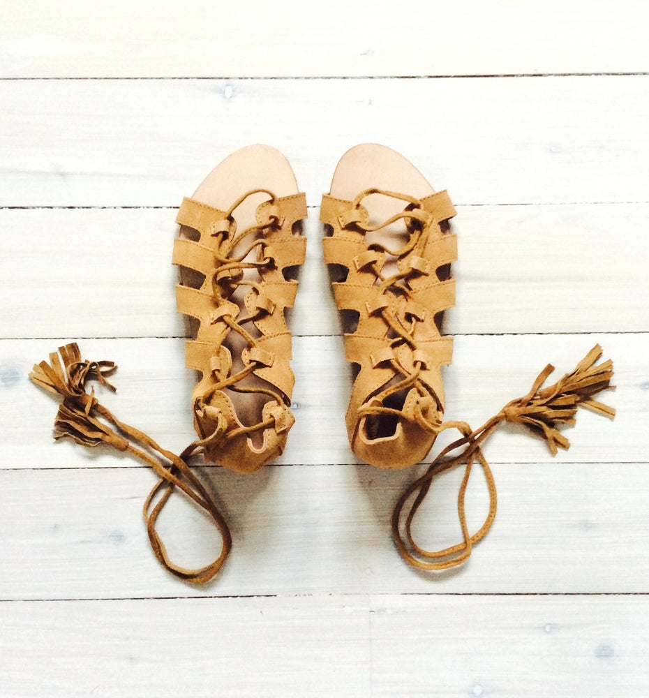 Image of KLF Suede Dancing Sandal Tan