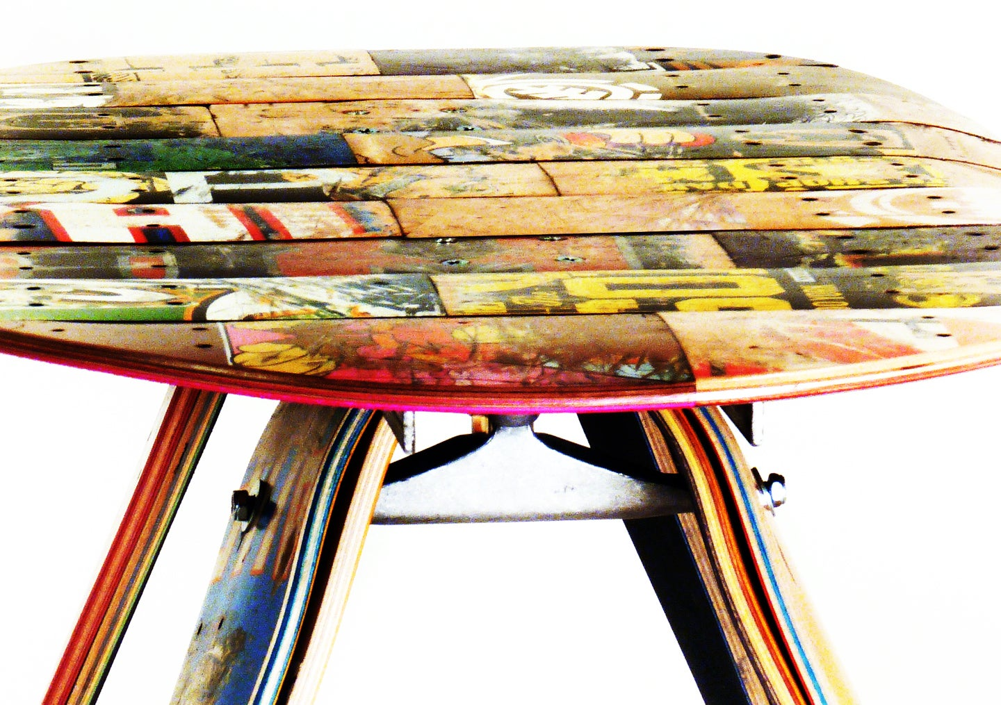 ... Image Of Recycled Skateboard Coffee Table By Deckstool ...