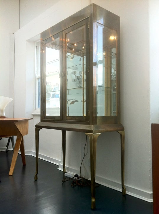 Image of Brass Vitrine by Mastercraft