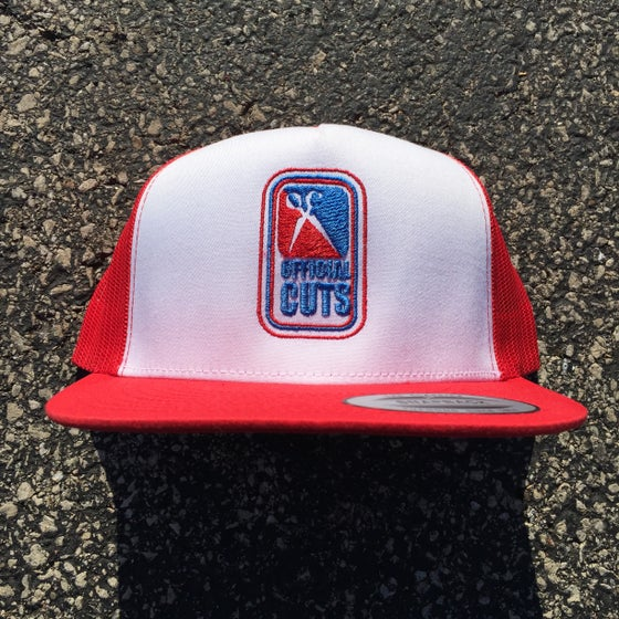 Image of Official Cuts Trucker Cap - Red/White