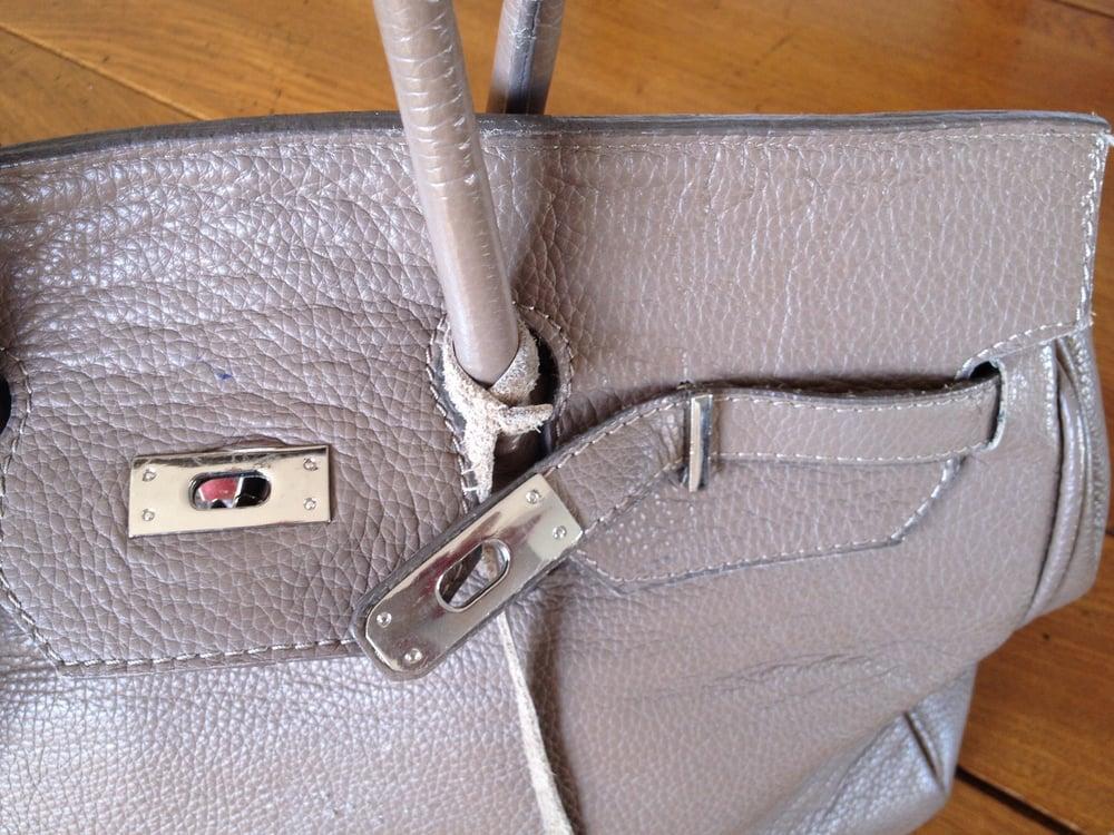 Image of Sac en cuir de buffle style Birkin