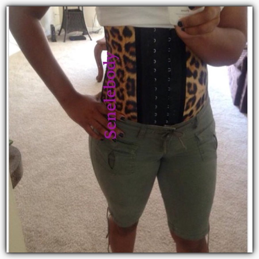 Image of Ann Chery Leoaprd Print Work Out Cincher LONG TORSO (ASSORTED)
