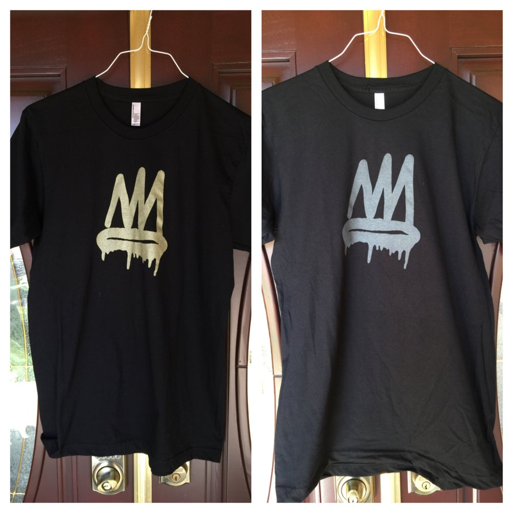 Image of Black and Gold/Black Pearl Crown Tee (Mens/Womens)