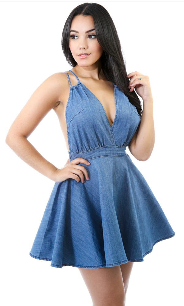 Image of Belle Denim Dress