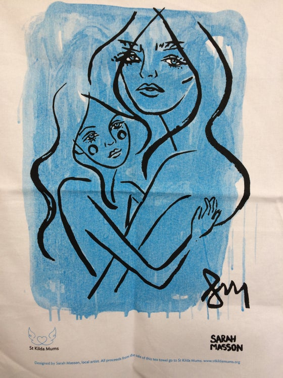 Image of Tea Towel 'Mother and child""