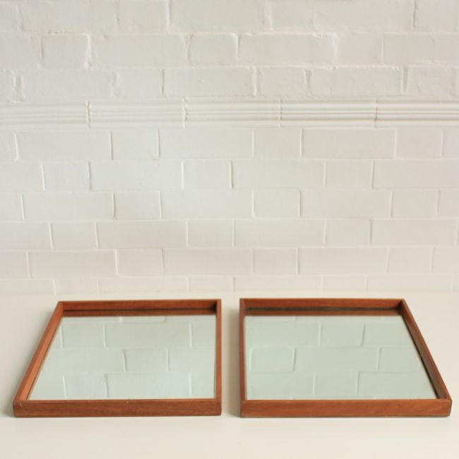 Image of Vintage Teak mirror (2 available)