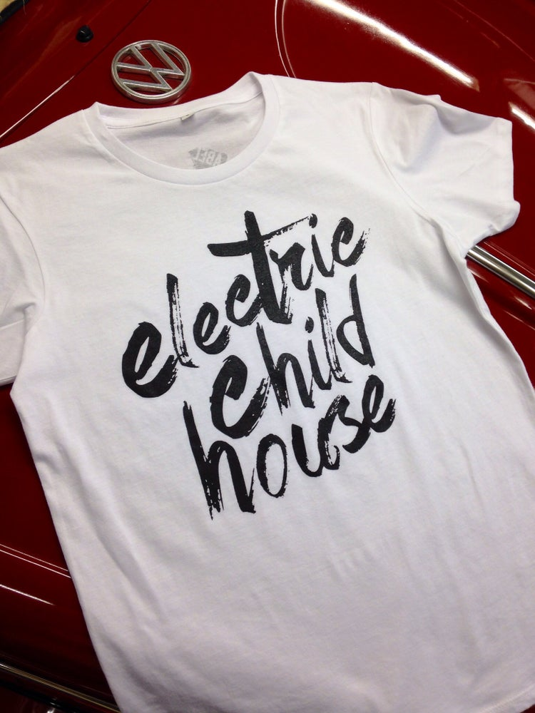 Image of ELECTRIC CHILD HOUSE TEE WHITE/BLACK