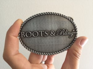 Image of Boots and Bling Belt Buckle