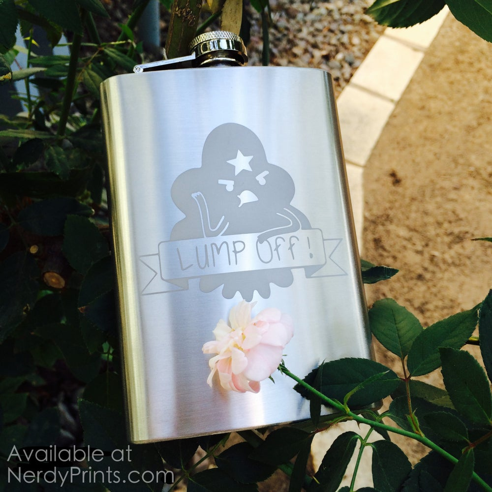 "Image of Lumpy Space Princess Flask - ""Lump Off!"""