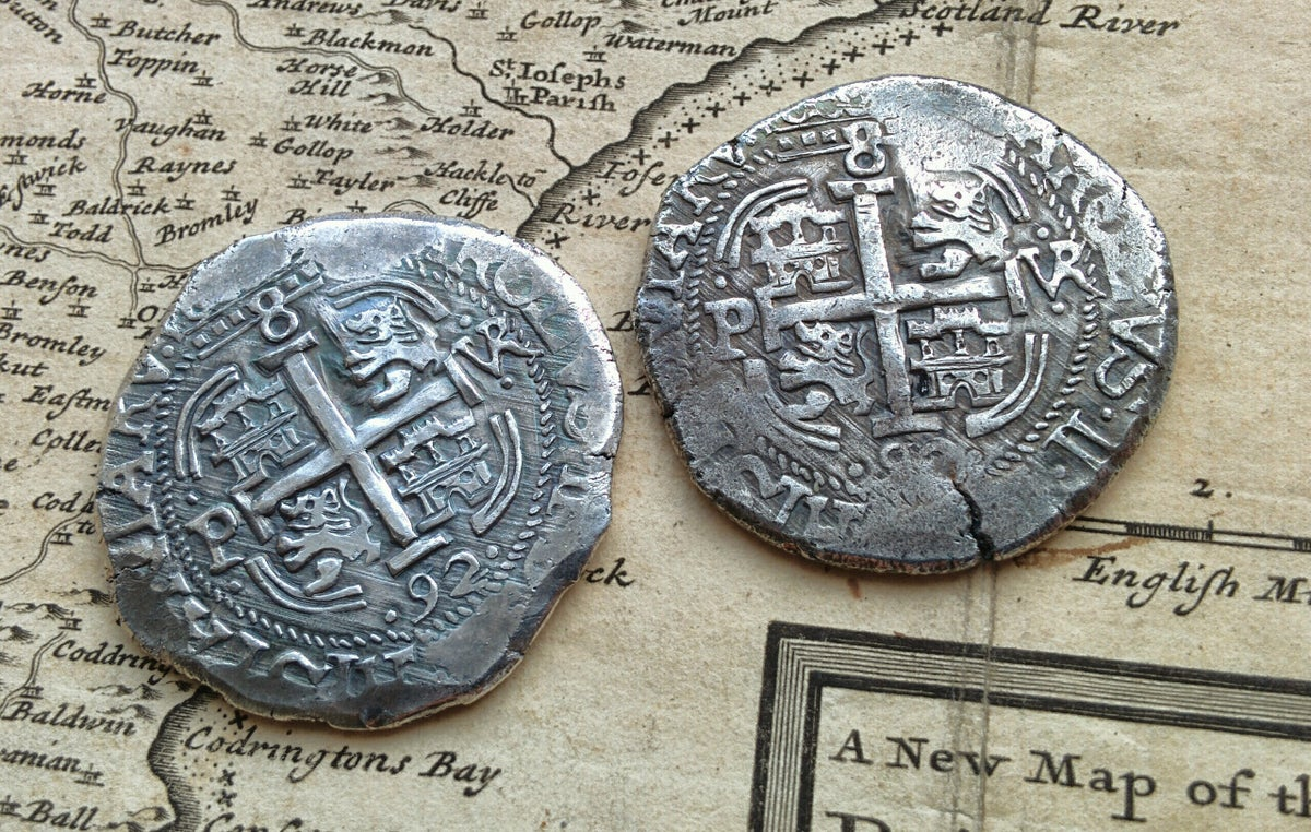'Piece of Eight' Spanish 8 Reales Cob 1692 Coin