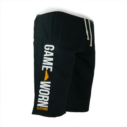 Image of GAME-WORN Tracky Cut Off Shorts - Boston Black