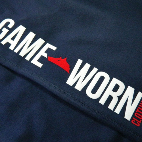 Image of GAME-WORN Tracky Cut Off Shorts - New York Navy