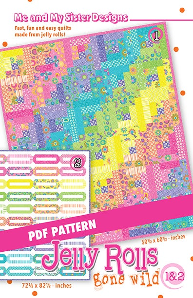 Image of Jelly Rolls Gone Wild 1 & 2 PDF pattern