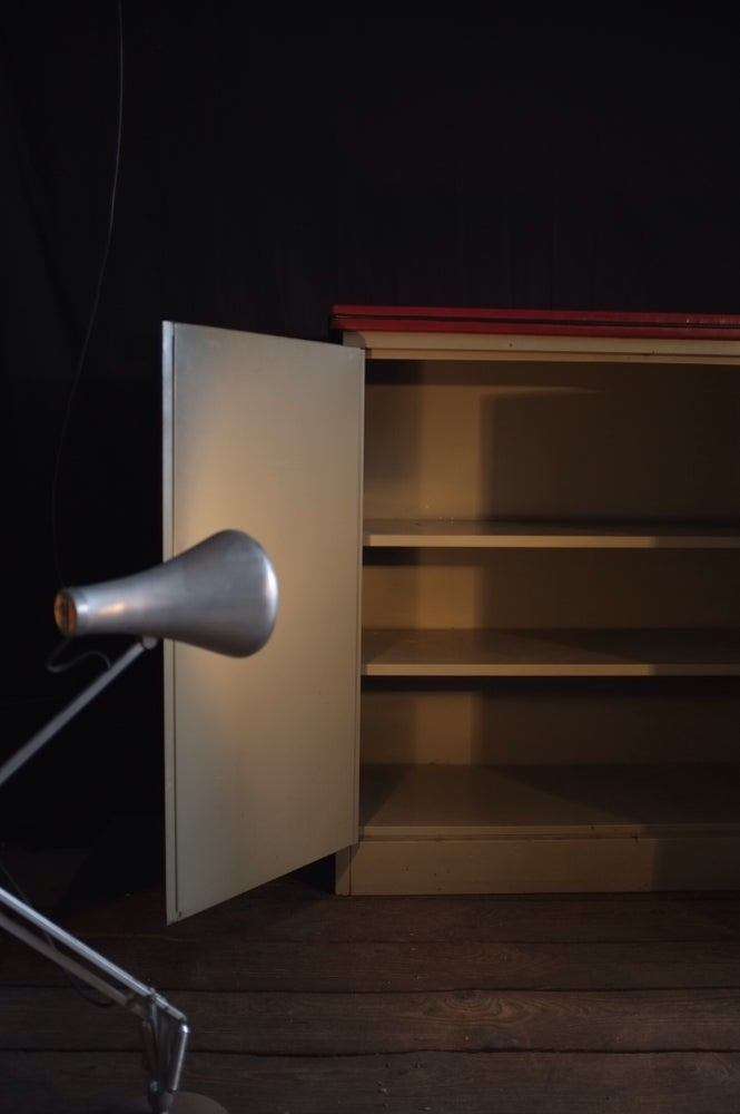 Image of Mid-Century Steel Industrial Cabinet - Ex MOD