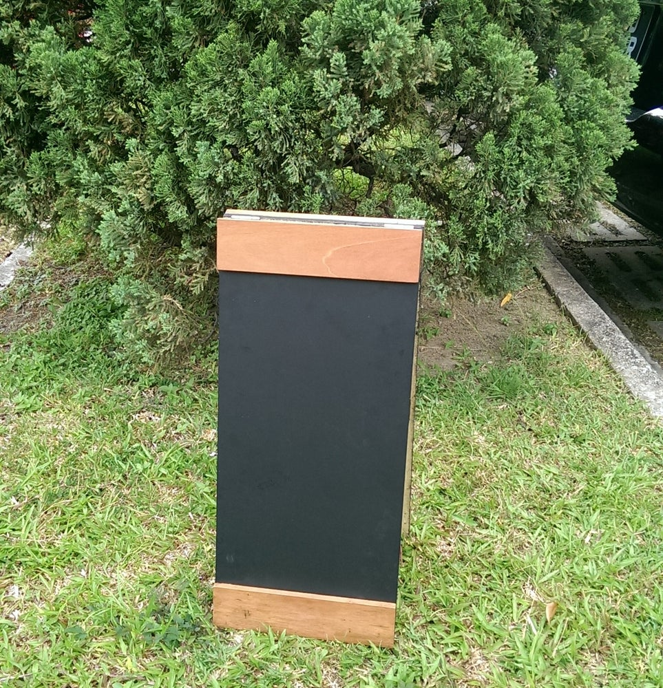 Image of Small Standing Double Sided Chalkboard with Top and Bottom Border