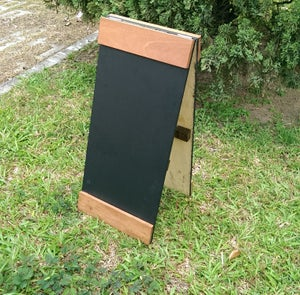 Small Standing Double Sided Chalkboard with Top and Bottom Border