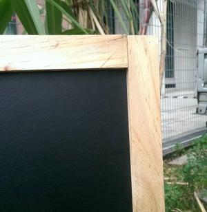 Small Standing Double Sided Chalkboard with Pine wood Frame