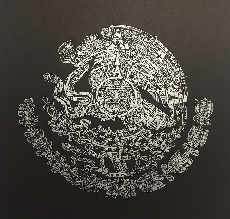 Image of Escudo Azteca - Art Print
